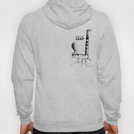Leaping Dinosaur - text Hoody