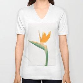 flower scandinavian minimal Unisex V-Neck