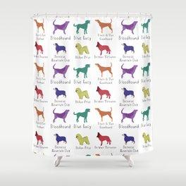 Dog breeds 2 Shower Curtain