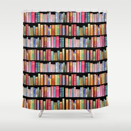 Vintage Book Library for Bibliophile Shower Curtain