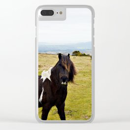 Wild Horse of Dartmoor Clear iPhone Case