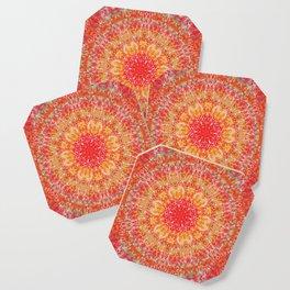 Flaming Star Mandala Coaster