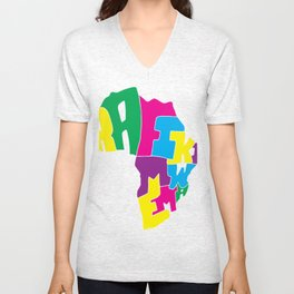 Afriki by Coloruben Unisex V-Neck