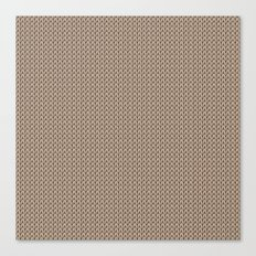 Knitted spring colors - Pantone Hazelnut Canvas Print