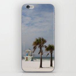 Clearwater Beach In Wintertime iPhone Skin