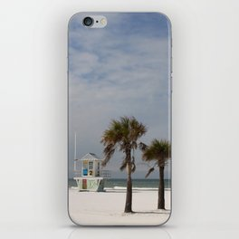 Clearwater Beach In Wintertime iPhone Skin