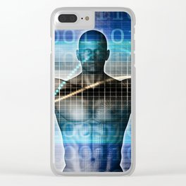 Science Technology Innovation as a Abstract Background Clear iPhone Case