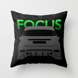 Ford Focus RS Throw Pillow
