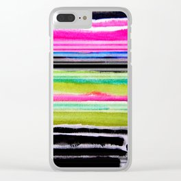 bohemian abstract painting Clear iPhone Case