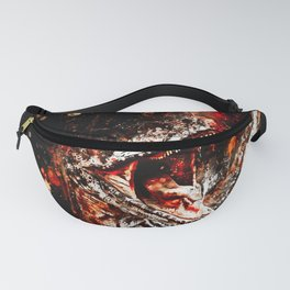 velociraptor dinosaur close up wsee Fanny Pack