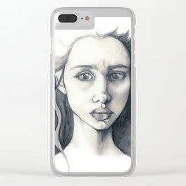 Pencil Drawing Clear iPhone Case