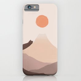 Good Morning Meow 4 Mount Fuji  iPhone Case