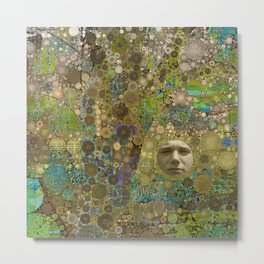 Into the Woods Abstract Art Collage Metal Print