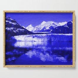 Glacier Bay Blue Serving Tray
