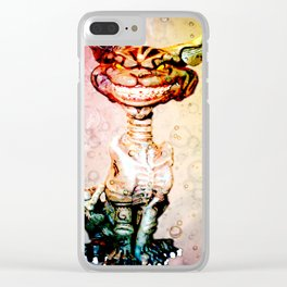 BEWARE THE CHESHIRE CAT GRIN Clear iPhone Case