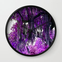 Trees Purple Moss Wall Clock