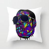 gangster Throw Pillows featuring Rap Gangster by emalakaite