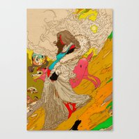 mother Canvas Prints featuring MOTHER by kasi minami