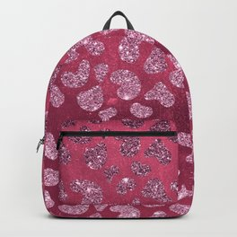 Abstract pink burgundy glitter gradient animal print Backpack