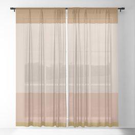 Contemporary Color Block X Sheer Curtain
