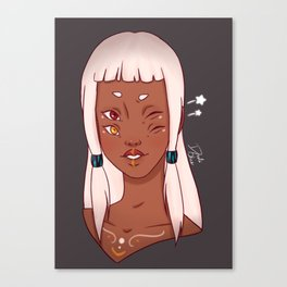 Zoey Wink Canvas Print
