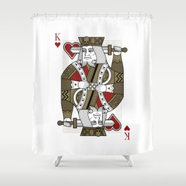 Omnia Oscura King of Hearts Shower Curtain