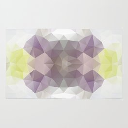 Triangles design in soft colors Rug