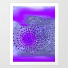 violet and blue spirals Kunstdrucke