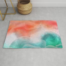 """""""Coral sand beach and tropical turquoise sea"""" Rug"""