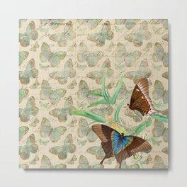 Vintage Butterfly Metal Print