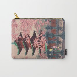 Eight Views of Tokyo - Toshogu Shrine Kasamatsu Shiro Japanese Woodblock Painting Asian Beautiful Carry-All Pouch