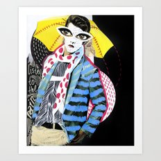 ::Man in the Rain:: Art Print