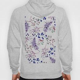 Watercolor navy blue pink tropical berries floral Hoody