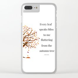 Falling Leaves - Autumn Tree Clear iPhone Case