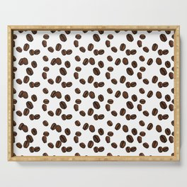 Coffee Beans - White Serving Tray