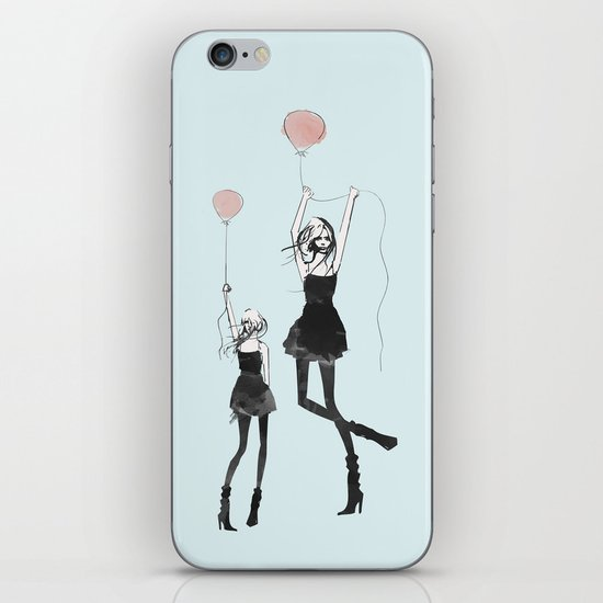 Girls Afloat iPhone & iPod Skin