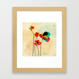 Exotic Watercolor Flower Framed Art Print