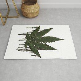 Melting Cannabis Leaf | Marijuana THC CBD Stoner Rug