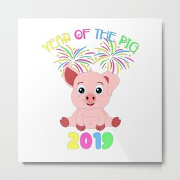 Year Of The Pig Chinese New Year Astrology Zodiac Metal Print