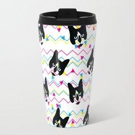 CMYK Cat Pattern Travel Mug