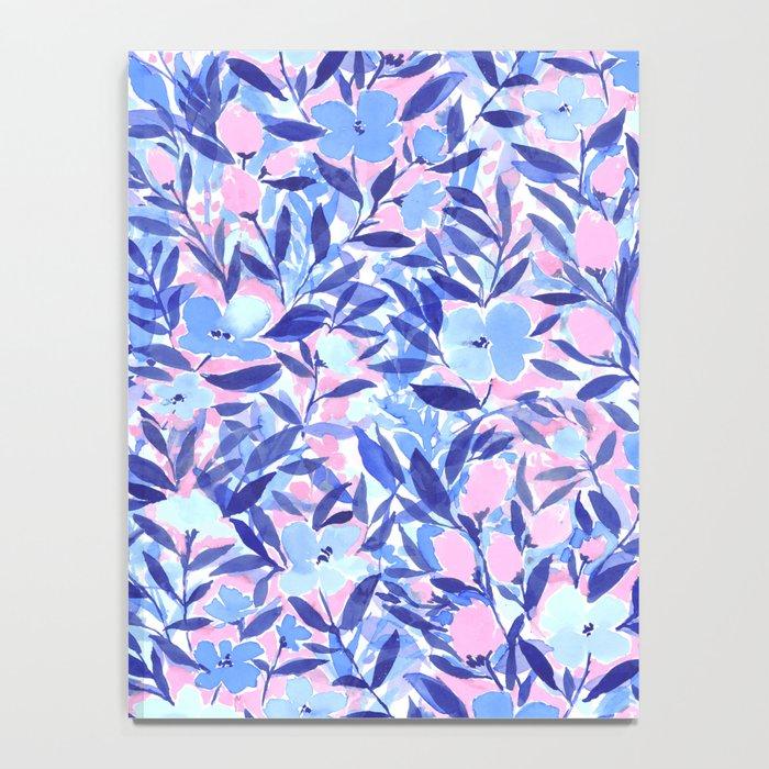 Nonchalant Blue Notebook