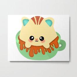 Kawaii Kitten Mug Metal Print