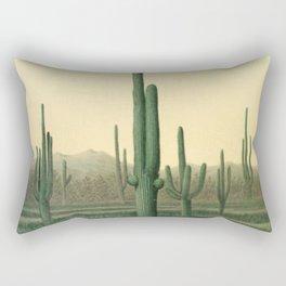 Cactus Landscape Rectangular Pillow