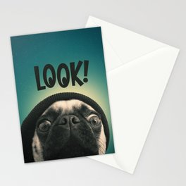 LOOK it's Lola the pug Stationery Cards