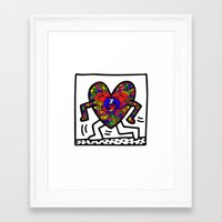 keith haring Framed Art Prints featuring Keith Haring by men90