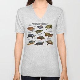Freshwater Turtles of North America Unisex V-Neck