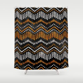 Handpainted Boho, Fall Shower Curtain