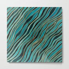 Ocean Currents Metal Print