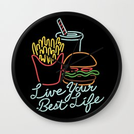 Live Your Best Life Wall Clock