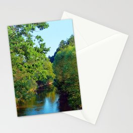 A summer evening along the river III | waterscape photography Stationery Cards